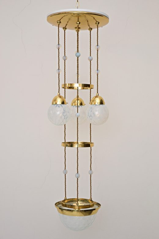 "Nr. 44 Koloman Moser Attributed to Bakalowits & Söhne ""Secession"" Chandelier"